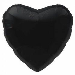 """Folinis balionas """"Širdelė""""/ juoda"""