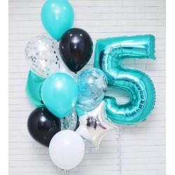 """Folinis balionas """"Skaičius 5""""/turkio"""