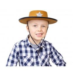 "Skrybėlė ""Šerifas"" / ruda"