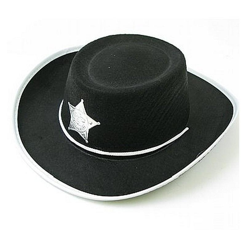 """Juodos spalvos """"Šerifo kepurė"""""""