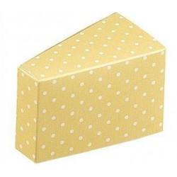 """Dėžutė """"Taškeliai"""" / geltona"""