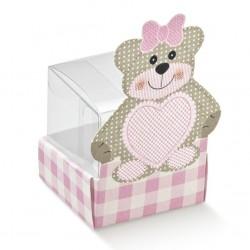 """Mini dėžutė """"Rožinis meškutis"""""""