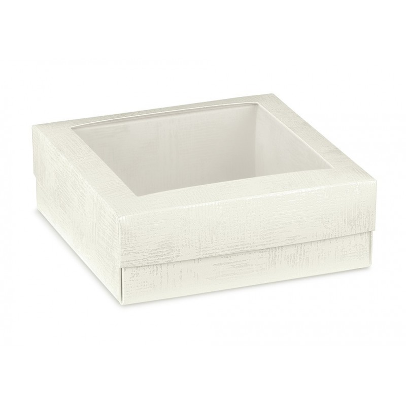 Balta - skaidri dovanų dėžutė