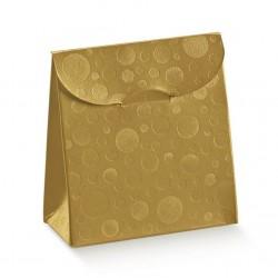"""Dėžutė-maišelis """"Burbulai""""/ auksinė"""