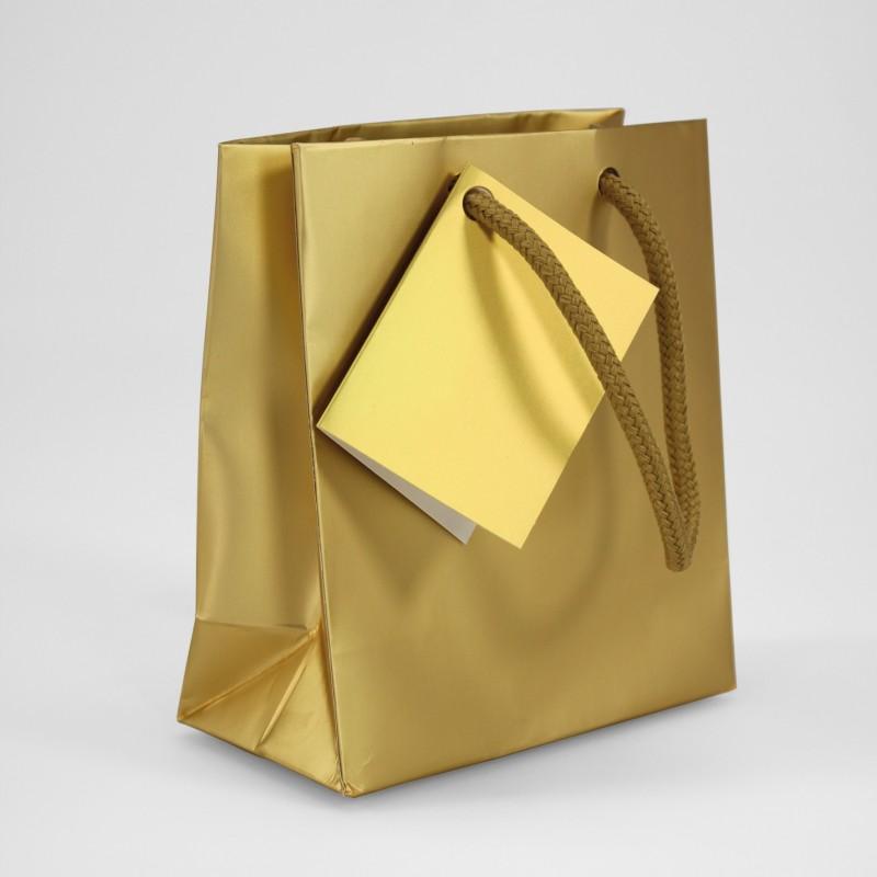 Dovanų maišelis / auksinis