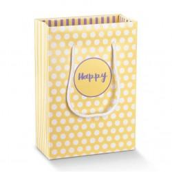 """Dovanų maišelis """"Happy"""" / geltonas"""