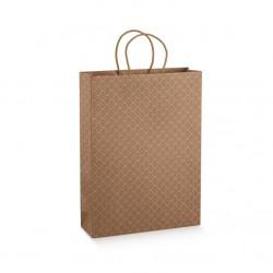 Dovanų maišelis / rudi ornamentai