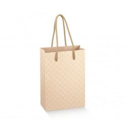 Dovanų maišelis / kreminiai ornamentai