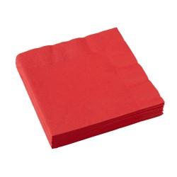 Popierinės servetėlės / raudonos