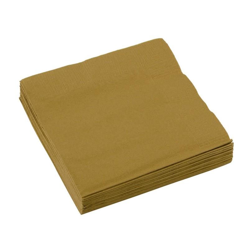 Popierinės servetėlės / auksinės