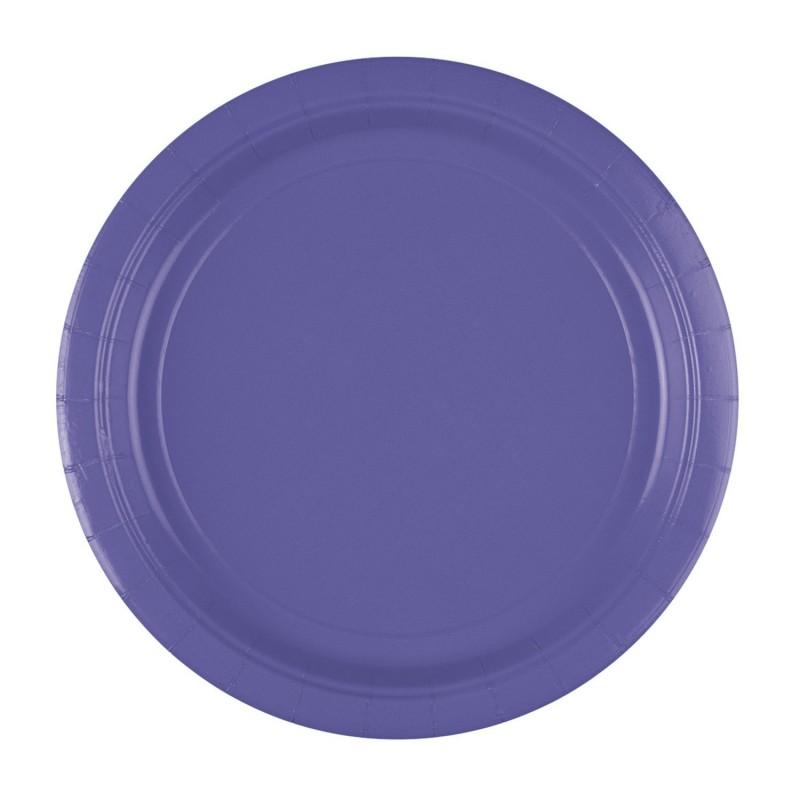 Vienkartinės lėkštutės / violetinės
