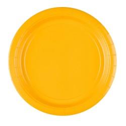 Vienkartinės lėkštutės / geltonos