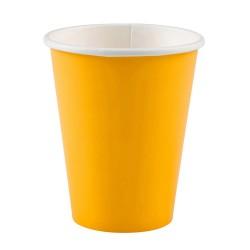 Vienkartiniai puodeliai / geltoni