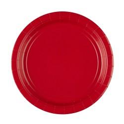 Vienkartinės lėkštutės / raudonos