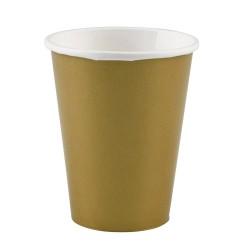 Vienkartiniai puodeliai / auksiniai