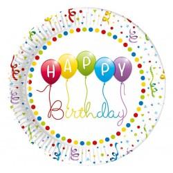 """Lėkštutės """"Happy Birthday balionai"""""""