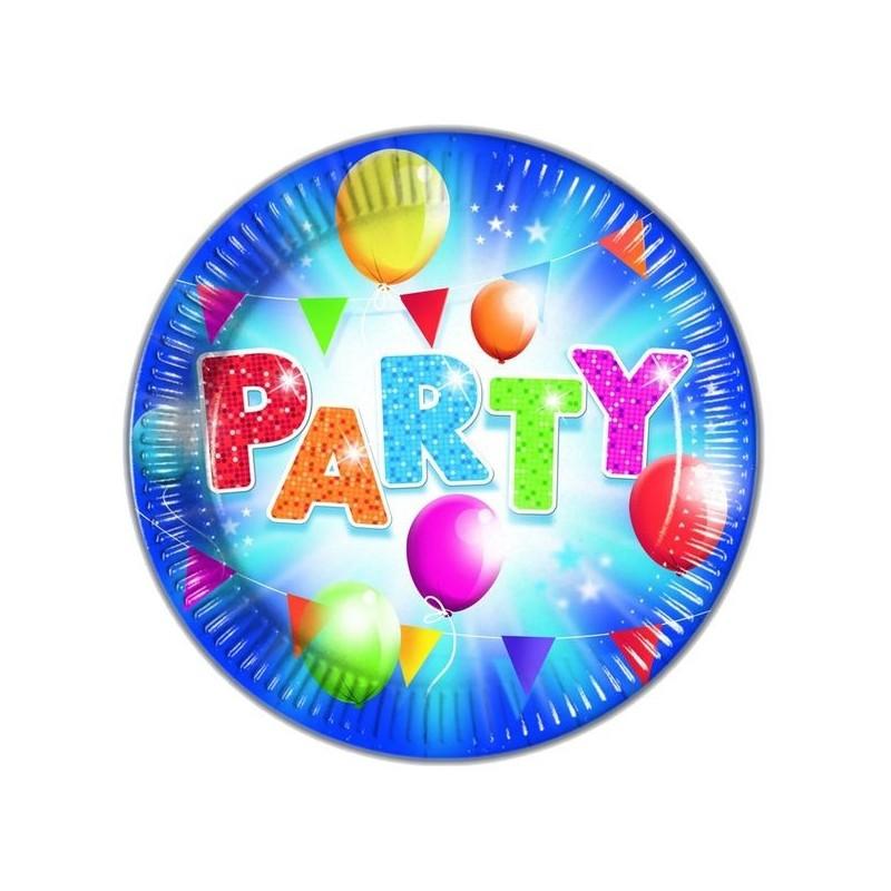 """Vienkartinės lėkštės """"Party"""" mėlynos"""