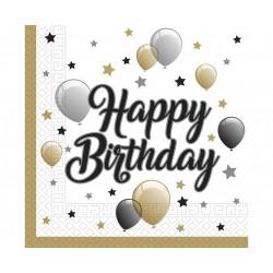 """Servetėlės """"""""Happy Birthday/balionai"""""""