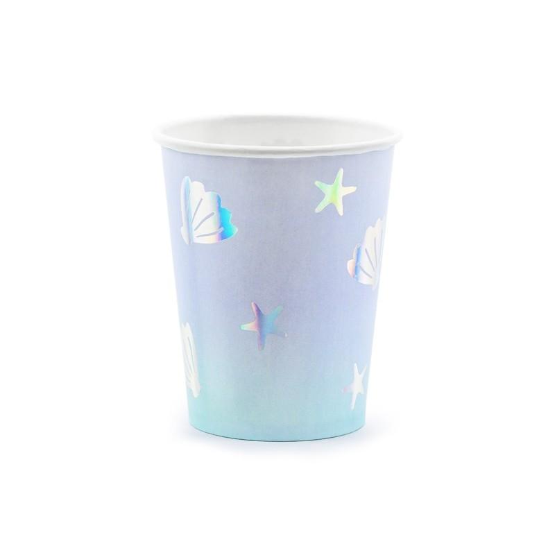 """Vienkartiniai puodeliai """"Undinėlė"""""""