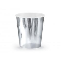 Vienkartiniai puodeliai / sidabriniai