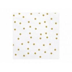 """Servetėlės """"Žvaigždės"""" / baltos"""