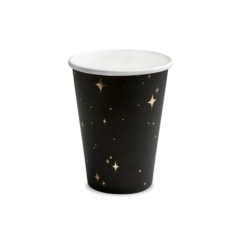 """Vienk. puodeliai """"Žvaigždės"""" / juodi"""
