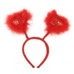 Lankelis su raudonomis širdelėmis