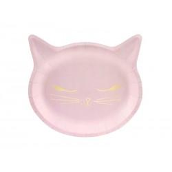 """Vienkartinės lėkštutės """"Rožinė katytė"""""""