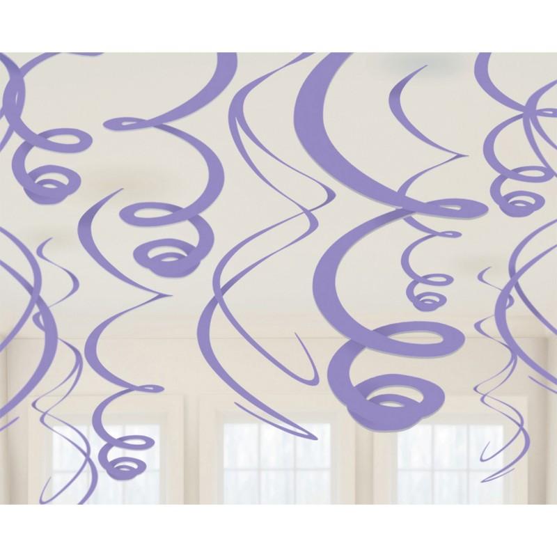 Pakabinamos dekoracijos violetinės