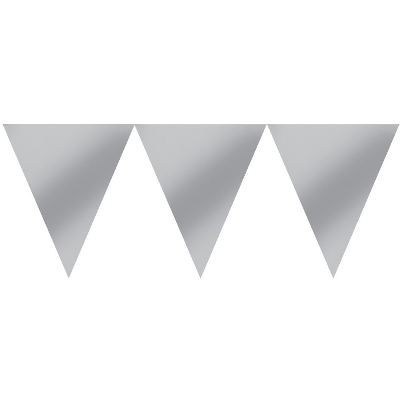 Vėliavėlių girlianda / sidabrinė