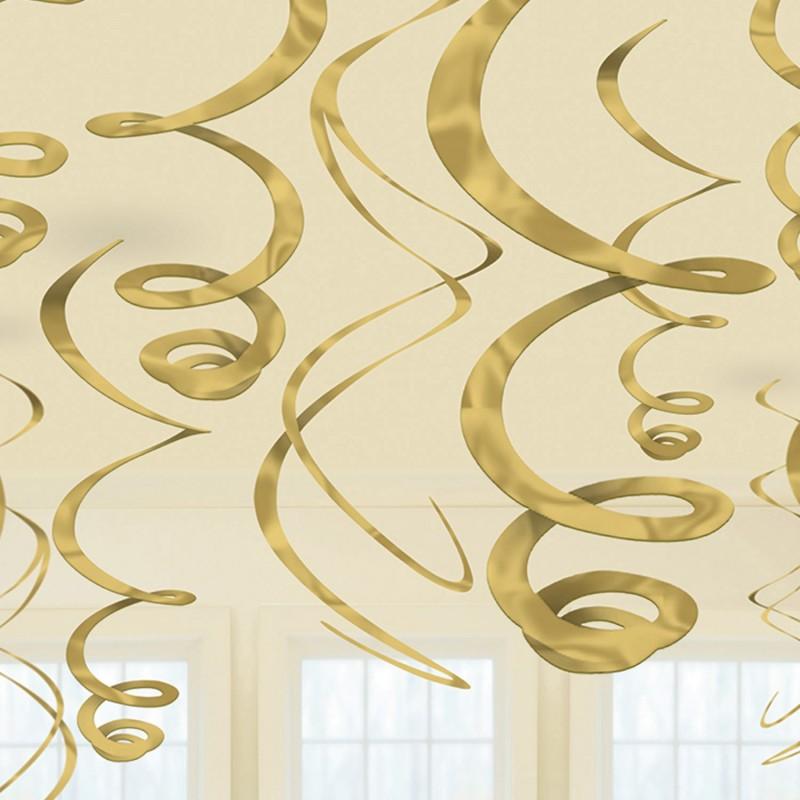Pakabinamos dekoracijos / auksinės