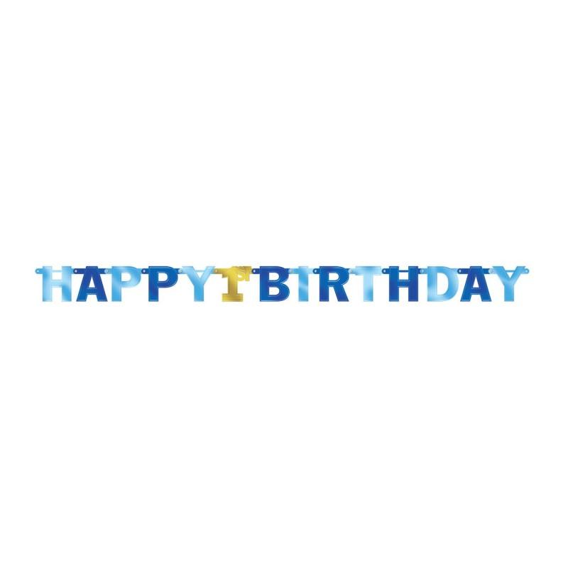 """Dekoracija """"Happy Birthday -1asis""""/mėl."""