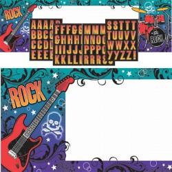 """Plakatas su raidėmis """"Roko žvaigždė"""""""