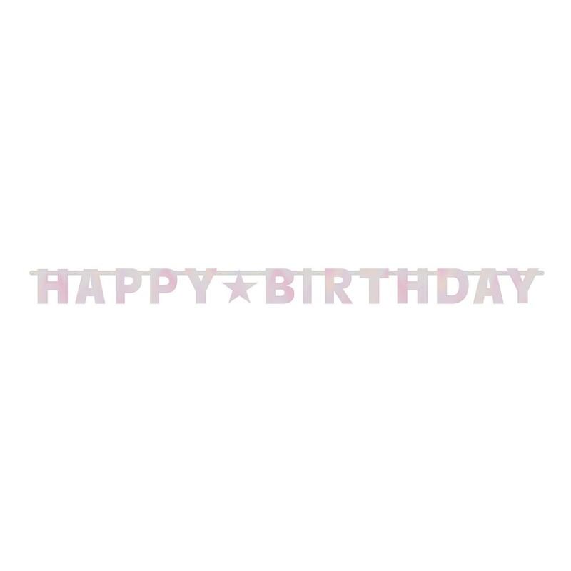 """Dekoracija """"Happy Birthday""""/rož."""