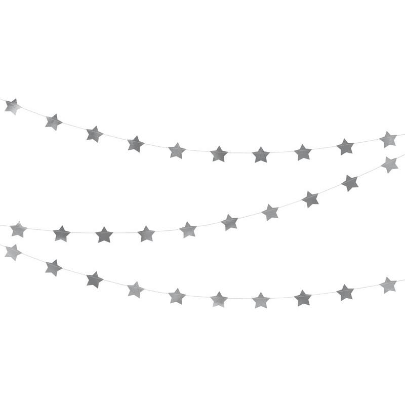 """Dekoracija """"Sidabrinės žvaigždės"""""""