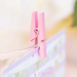 Mediniai segtukai / rožiniai