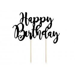 "Torto dekoracija ""Happy birthday /juoda"""
