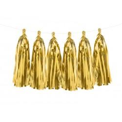 Auksinė kutų girlianda