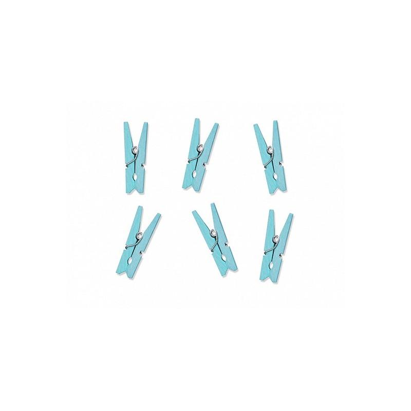 Mediniai segtukai / žydri