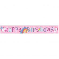 """Juosta """"Happy birthday"""" su vienaragiais"""