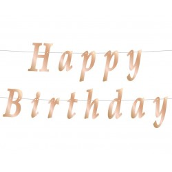 "Girlianda ""Happy birthday""/Rose Gold"