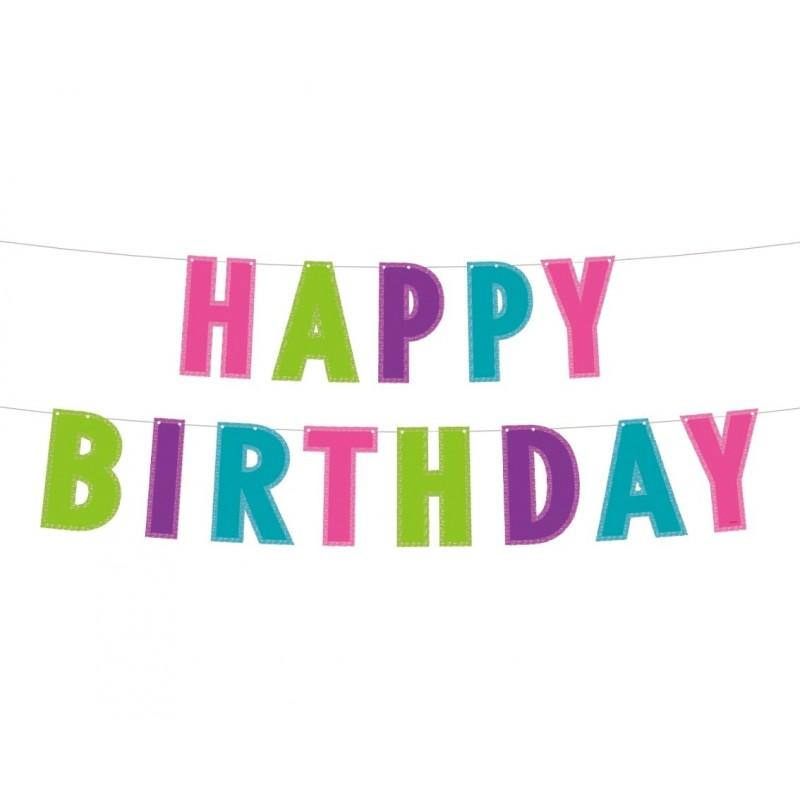 """Girlianda """"Happy birthday"""" / spalvota"""