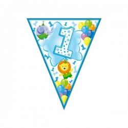 """Vėliavėlių girlianda """"1-sis gimtadienis"""""""