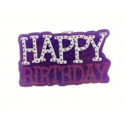 """Žvakutė užrašas """"Happy birthday"""""""