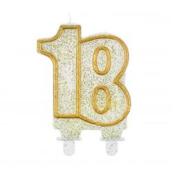 """Torto žvakutė """"18"""" auksiniais kr."""