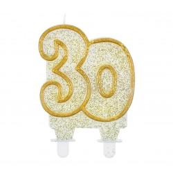 """Torto žvakutė """"30"""" auksiniu kr."""