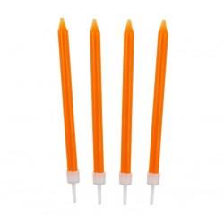 Žvakutės tortui oranžinės