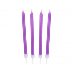 Žvakutės tortui violetinės