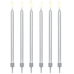 Žvakutės tortui sidabrinės