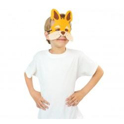"""Velvetinė kaukė """"Oranžinis zuikis"""""""